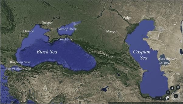 Black sea map project